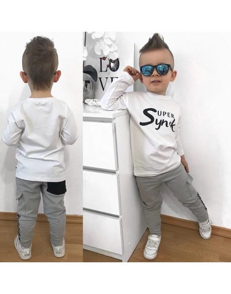 T-shirt Biały Super Synek