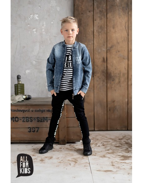 bomberka kurtka jeans