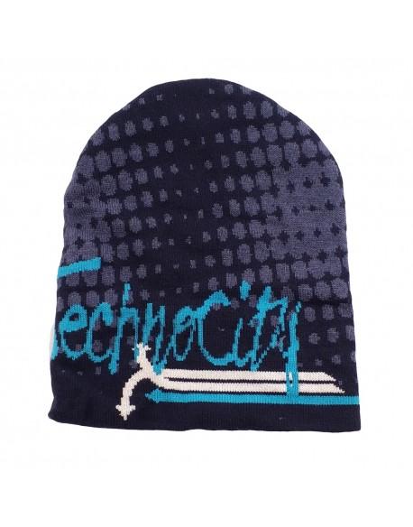 czapka dzianinowa z napisami