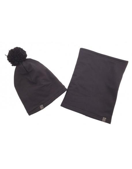 czapka + komin czarna