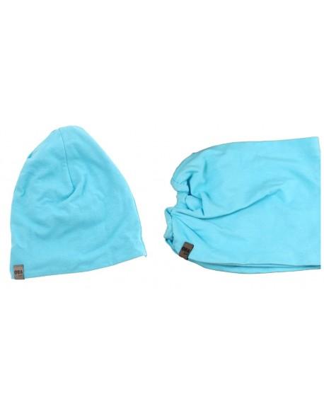 czapka + komin niebieski