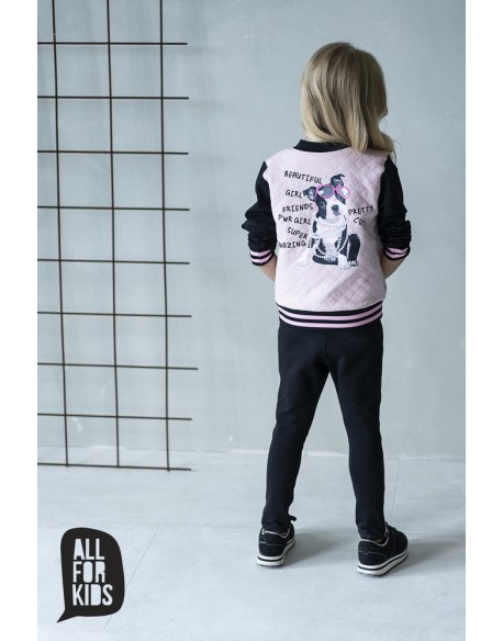 bluza pikowana różowa