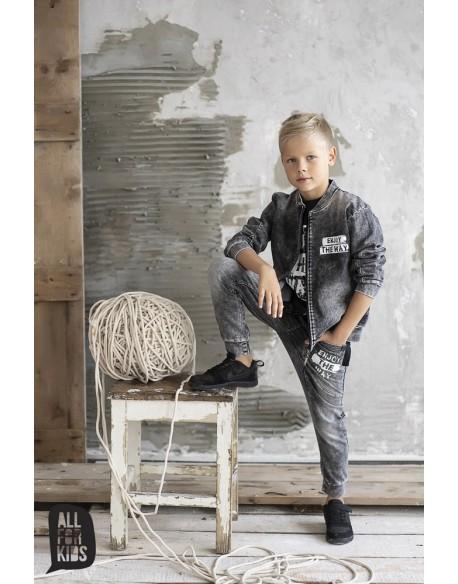 spodnie grafitowe a'la jeans