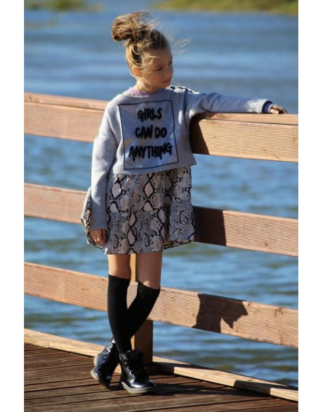 SZARy KRÓTKi sweterek